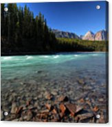 Athabasca River In Jasper National Park Acrylic Print by Mark Duffy