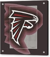 Atlanta Falcons Logo T-shirt Acrylic Print