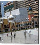 Atlantic City Hotels Board Walks Beaches Entertainment Centres Tajmahal Hotel Americas Best Photogra Acrylic Print
