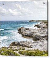 Atlantic Coastline In Bahamas Acrylic Print