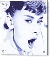 Audrey - Ballpoint Pen Art Acrylic Print