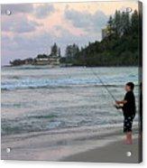 Australia - Fisherman At Greenmount Beach Acrylic Print