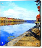 Autumn Afternoon On The Schuykill River Acrylic Print