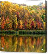 Autumn Big Ditch Lake Acrylic Print