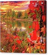 Autumn Garlands Acrylic Print