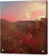 Autumn In The Rolling Hills Acrylic Print