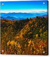 Autumn In The Smokies Acrylic Print