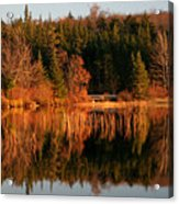 Autumn Lake Acrylic Print by Kate  Leikin