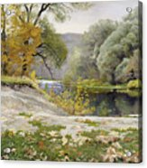 Autumn Landscape In The Vicinity Of Eshar Acrylic Print