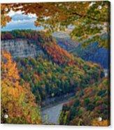 Autumn On The Genesee II Acrylic Print
