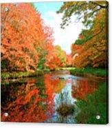 Autumn On The Mersey River, Kejimkujik National Park, Nova Scotia, Canada Acrylic Print