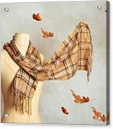 Autumn Scarf Acrylic Print