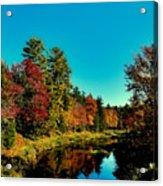 Autumn Splendor On The Moose River Acrylic Print