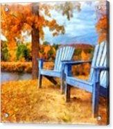 Autumn Splendor Watercolor Acrylic Print