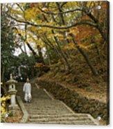 Autumn Stairway Acrylic Print