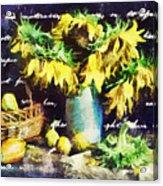 Autumn Sunflowers Acrylic Print