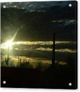 Az Cloudy Sunset Acrylic Print