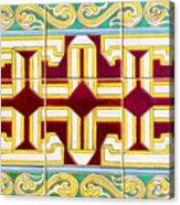 Azulejo - Geometrical Decoration  3 Acrylic Print