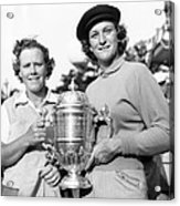 Patty Berg And Babe Didrikson Acrylic Print