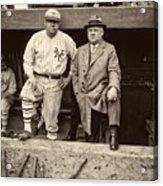 Babe Ruth And John Mcgraw Acrylic Print