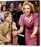 Babes In Arms, From Left Mickey Rooney Acrylic Print by Everett