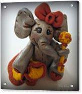 Baby Elephant Acrylic Print by Trina Prenzi