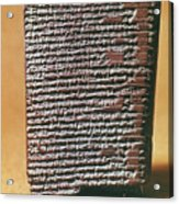 Babylonian Clay Tablet Acrylic Print