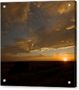Badlands Sunset Acrylic Print by Chris Brewington Photography LLC