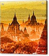 Bagan Pagodas Acrylic Print