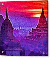 Bagan Sunrise Acrylic Print