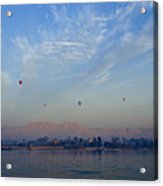 Ballooning Over The Nile Acrylic Print