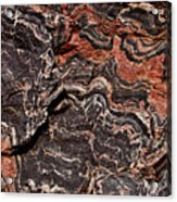 Banded Gneiss Rock Acrylic Print