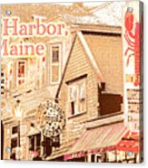 Bar Harbor Maine Shops At Night Acrylic Print