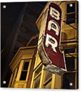 Bar Sign Acrylic Print