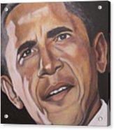 Barack Obama Acrylic Print by Kenneth Kelsoe