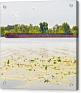 Barge On The Dnieper River Acrylic Print