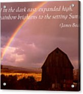 Barn And Rainbow Poster Acrylic Print