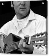 Barry Sadler With Guitar 3 Tucson Arizona 1971 Acrylic Print
