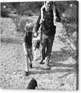Barry Sadler With Sons Baron And Thor Taking A Stroll 1 Tucson Arizona 1971 Acrylic Print