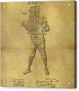 Baseball Catcher's Mask Patent Acrylic Print
