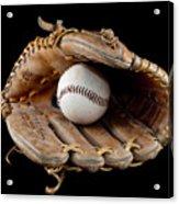 Baseball Acrylic Print by Felix M Cobos