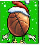 Basketball Christmas Acrylic Print
