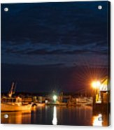 Bass Harbor At Night Acrylic Print