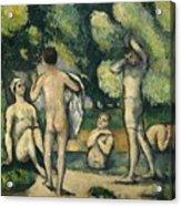 Bathers Acrylic Print by Paul Cezanne