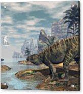 Batrachotomus Dinosaurs -3d Render Acrylic Print