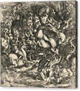 Battle Of Nude Men Acrylic Print