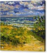 Beach At Delray Acrylic Print