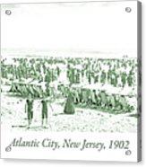 Beach, Bathers, Ocean, Atlantic City, New Jersey, 1902 Acrylic Print