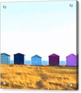 Beach Huts Acrylic Print by Trevor Wintle