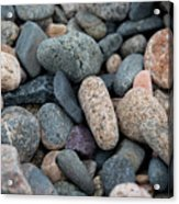 Beach Of Stones Acrylic Print